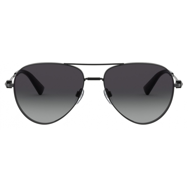 Valentino - Occhiale da Sole Pilot in Metallo con Stud Funczionale - Argento - Valentino Eyewear