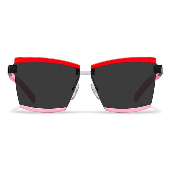 Prada - Prada Duple Collection - Occhiali Rettangolare - Rosso Rosa - Prada Collection - Occhiali da Sole - Prada Eyewear