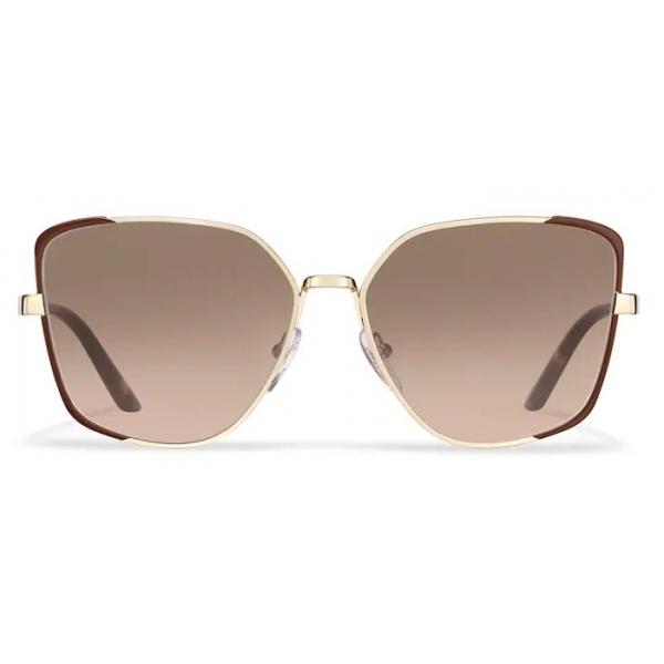 Prada - Prada Eyewear - Square Sunglasses - Cocoa Brown Pale Gold - Prada Collection - Sunglasses - Prada Eyewear