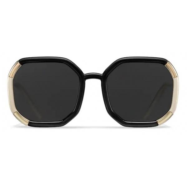 Prada - Prada Decode - Contemporary Sunglasses - Black Pearly Ivory - Sunglasses - Prada Eyewear