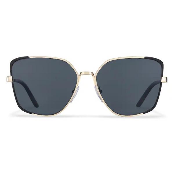 Prada - Prada Eyewear Collection - Occhiali Squadrati - Nero Opaco Oro Pallido - Occhiali da Sole - Prada Eyewear