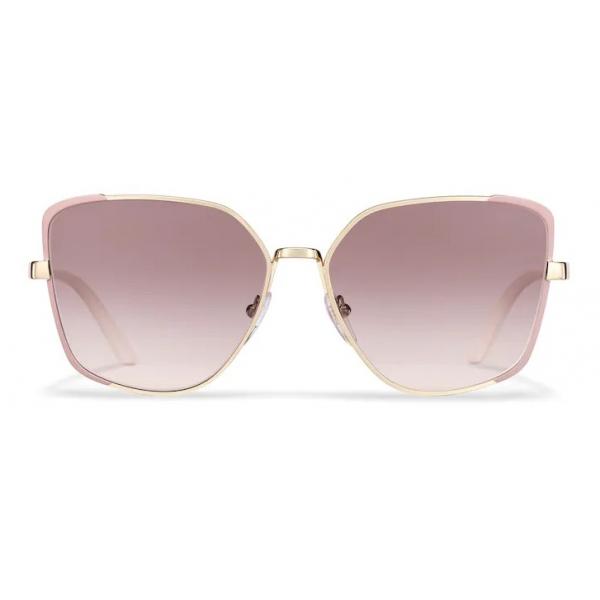 Prada - Prada Eyewear Collection - Occhiali Squadrati - Cammeo Opaco Oro Pallido - Occhiali da Sole - Prada Eyewear