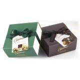 Vincente Delicacies - Torroncini Mandorla Ricoperti di Cioccolato Extra Fondente 70% - Glamour - Cofanetto Fiocco