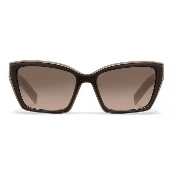 Prada - Prada Duple - Rectangular Sunglasses - Crystal Clay Taupe - Prada Collection - Sunglasses - Prada Eyewear