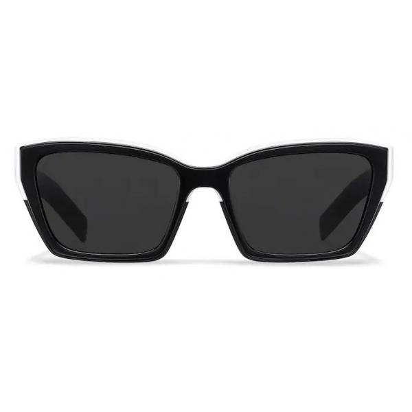 Prada - Prada Duple - Rectangular Sunglasses - Black White - Prada Collection - Sunglasses - Prada Eyewear