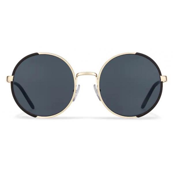 Prada - Occhiali Rotondi - Nero Opaco Oro Pallido - Prada Collection - Occhiali da Sole - Prada Eyewear