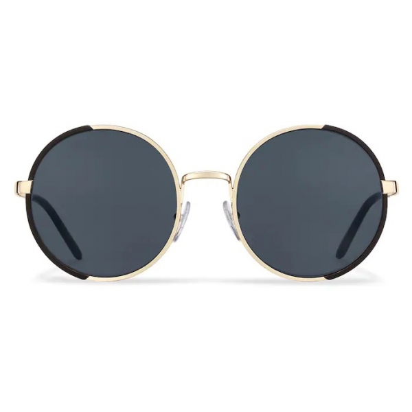 Prada - Round Sunglasses - Opaque Black Pale Gold - Prada Collection - Sunglasses - Prada Eyewear