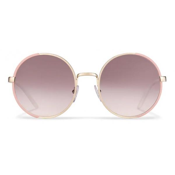 Prada - Occhiali Rotondi - Cammeo Opaco + Oro Pallido - Prada Collection - Occhiali da Sole - Prada Eyewear