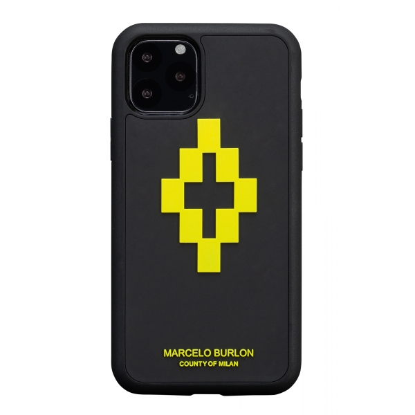 Marcelo Burlon - 3D Cross Yellow Cover - iPhone 11 Pro - Apple - County of Milan - Printed Case