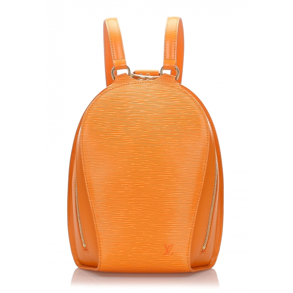 Louis Vuitton Vintage - Epi Mabillon Backpack - Orange - Leather and Epi Leather Bag Backpack - Luxury High Quality