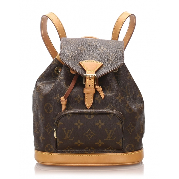 Louis Vuitton Vintage - Monogram Mini Montsouris Backpack - Marrone - Zaino in Tela e Pelle - Alta Qualità Luxury
