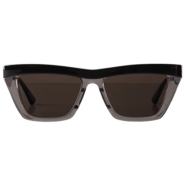 Bottega Veneta - Occhiali da Sole D-Frame - Nero Grigio - Occhiali da Sole - Bottega Veneta Eyewear