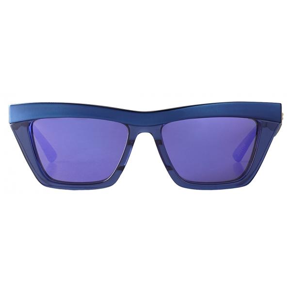 Bottega Veneta - Occhiali da Sole D-Frame - Blu Viola - Bottega Veneta Eyewear