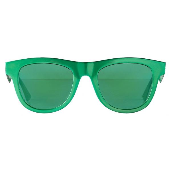 Bottega Veneta - Occhiali da Sole Classici D-Frame in Alluminio - Verde - Occhiali da Sole - Bottega Veneta Eyewear