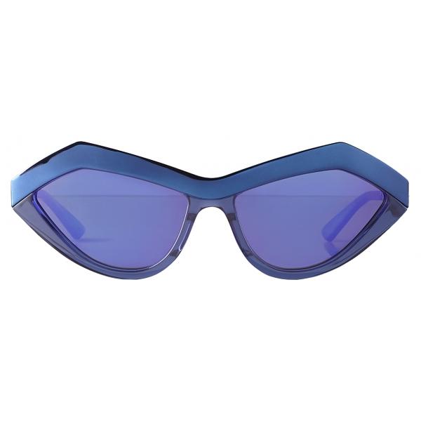 Bottega Veneta - Occhiali da Sole Geometrici Cat-Eye - Blu Viola - Occhiali da Sole - Bottega Veneta Eyewear