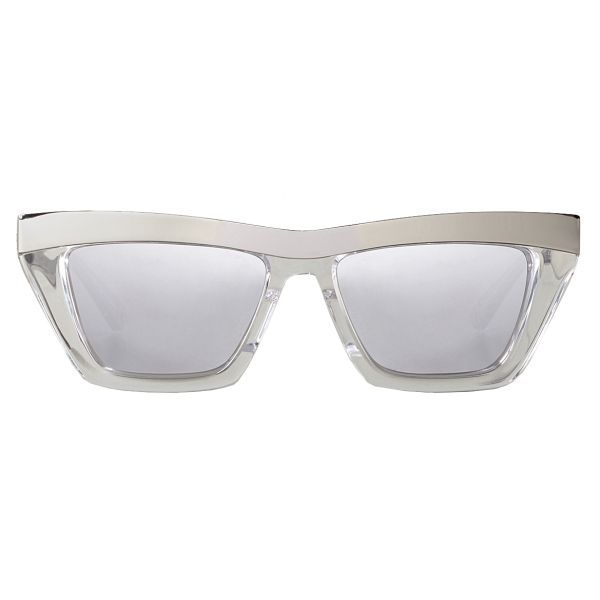 Bottega Veneta - D-Frame Sunglasses - Silver White - Sunglasses - Bottega Veneta Eyewear