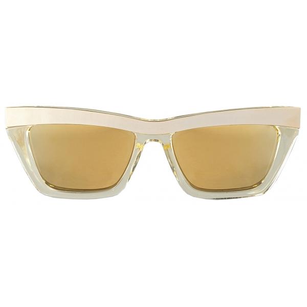 Bottega Veneta - Occhiali da Sole D-Frame - Champagne Oro - Occhiali da Sole - Bottega Veneta Eyewear