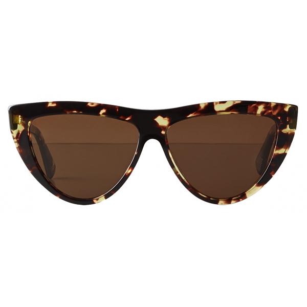 Bottega Veneta - Acetate Teardrop Sunglasses - Havana Brown - Sunglasses - Bottega Veneta Eyewear