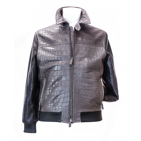 Vittorio Martire - Sports Jacket in Real Alligator Leather - Italian Handmade Jacket - Luxury High Quality Leather