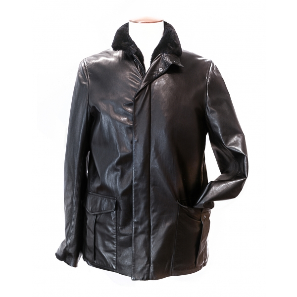 Vittorio Martire - French Nappa and Mink Jacket - Italian Handmade Jacket - Luxury High Quality Leather