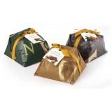 Vincente Delicacies - Panettone Ricoperto di Cioccolato Bianco con Pistacchio di Sicilia - Fastuka Artigianale Incartato a Mano
