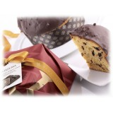 Vincente Delicacies - Panettone Ricoperto di Cioccolato al Latte e Nocciola - Nucilla - Artigianale Incartato a Mano