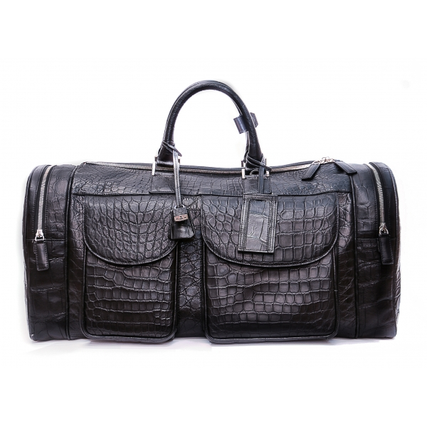 Vittorio Martire - Large Bag in Real Alligator Leather - Italian Handmade Bag - Luxury High Quality Leather