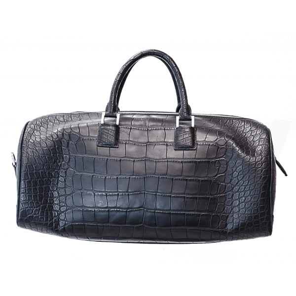 Vittorio Martire - Sport Bag in Real Alligator Leather - Italian Handmade Bag - Luxury High Quality Leather