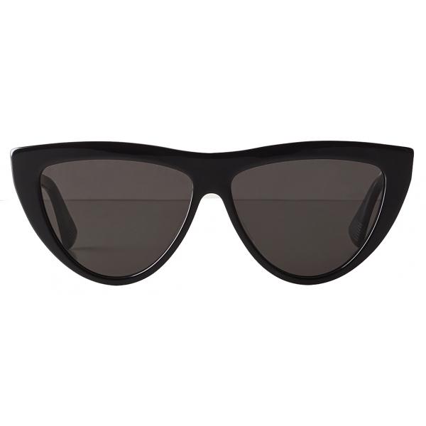 Bottega Veneta - Acetate Teardrop Sunglasses - Black Grey - Sunglasses - Bottega Veneta Eyewear