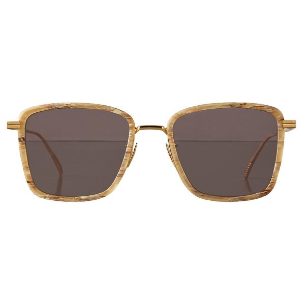 Bottega Veneta - Occhiali da Sole Rettangolare - Marrone Beige - Occhiali da Sole - Bottega Veneta Eyewear