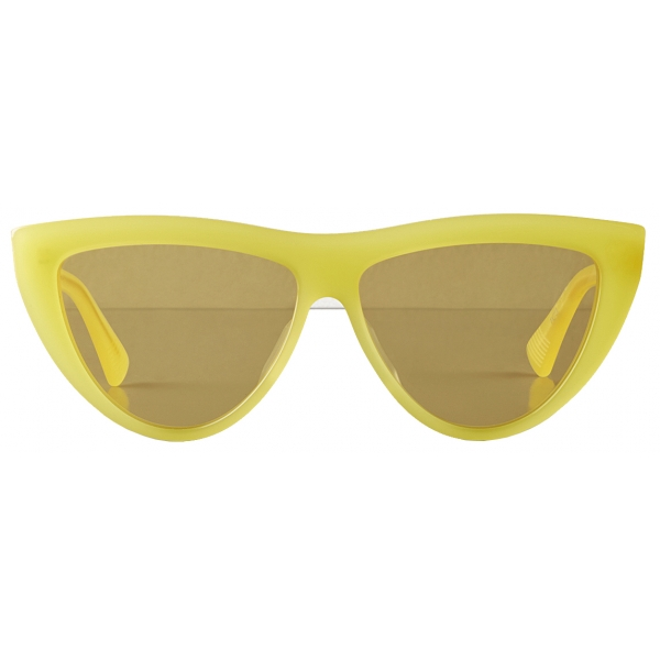 Bottega Veneta - Acetate Teardrop Sunglasses - Yellow - Sunglasses - Bottega Veneta Eyewear