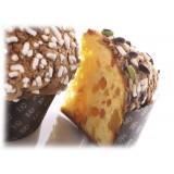 Vincente Delicacies - Panettone con Mandorle, Uvetta e Canditi d'Arancia - Mandorlo - Artigianale Cofanetto Metallico