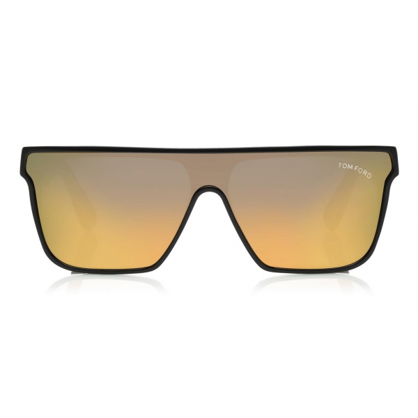 Tom Ford - Wyhat Sunglasses - Occhiali da Sole in Acetato Rettangolari - FT0709 - Nero Oro - Tom Ford Eyewear