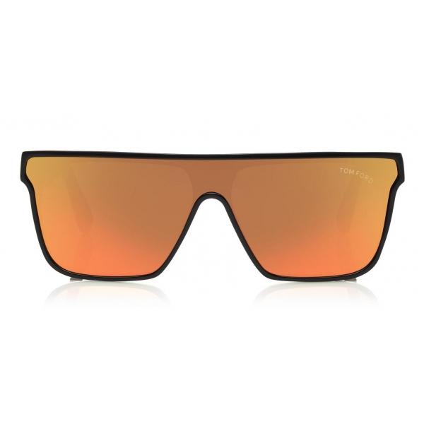 Tom Ford - Wyhat Sunglasses - Occhiali da Sole in Acetato Rettangolari - FT0709 - Nero Arancione - Tom Ford Eyewear