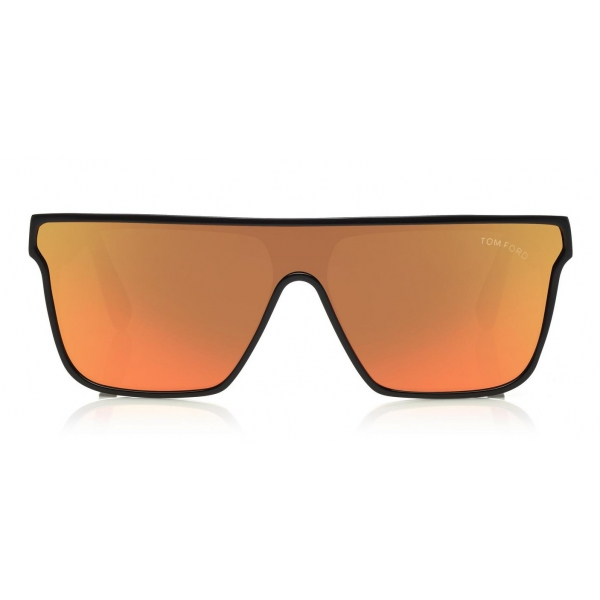 Tom Ford - Wyhat Sunglasses - Soft Rectangular Acetate Sunglasses - FT0709 - Black Orange - Tom Ford Eyewear