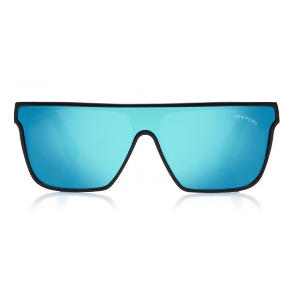 Tom Ford - Wyhat Sunglasses - Occhiali da Sole in Acetato Rettangolari - FT0709 - Nero Blu Chiaro - Tom Ford Eyewear