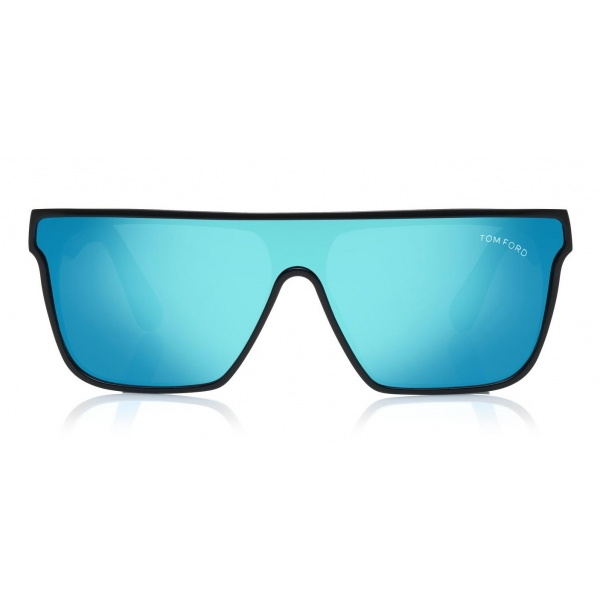 Tom Ford - Wyhat Sunglasses - Soft Rectangular Acetate Sunglasses - FT0709 - Black Light Blu - Tom Ford Eyewear