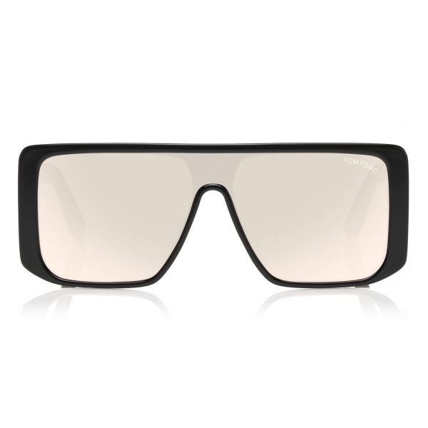 Tom Ford - Atticus Sunglasses - Oversize Rectangular Acetate Sunglasses - FT0710 - Black Smoke - Tom Ford Eyewear