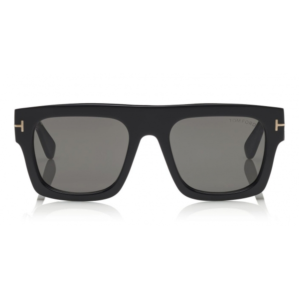 Tom Ford - Fausto Sunglasses - Soft Rectangular Acetate Sunglasses - FT0711 - Black - Tom Ford Eyewear