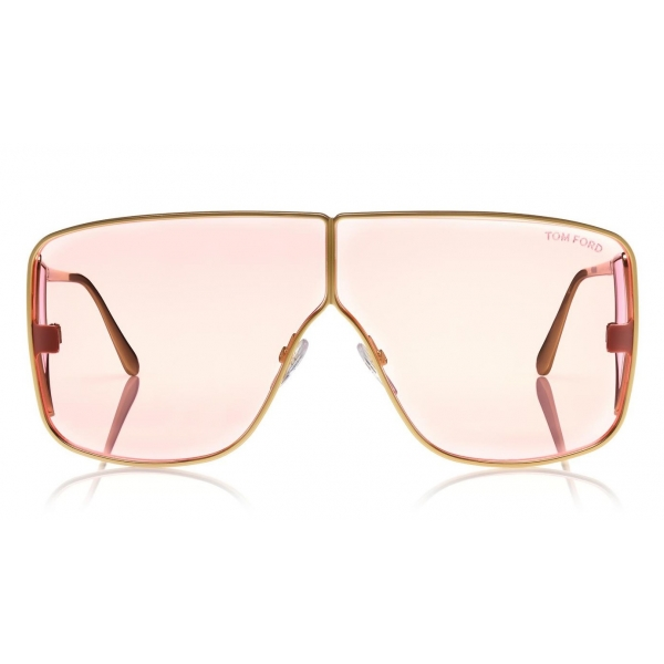 Tom Ford - Spector Sunglasses - Oversize Rectangular Acetate Sunglasses - FT0708 - Pink - Tom Ford Eyewear