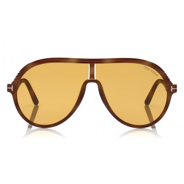 Tom Ford - Montgomery Sunglasses - Occhiali da Sole Pilot in Acetato - FT0647 - Giallo - Tom Ford Eyewear