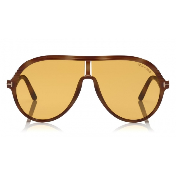 Tom Ford - Montgomery Sunglasses - Pilot Acetate Sunglasses - FT0647 - Yellow - Tom Ford Eyewear