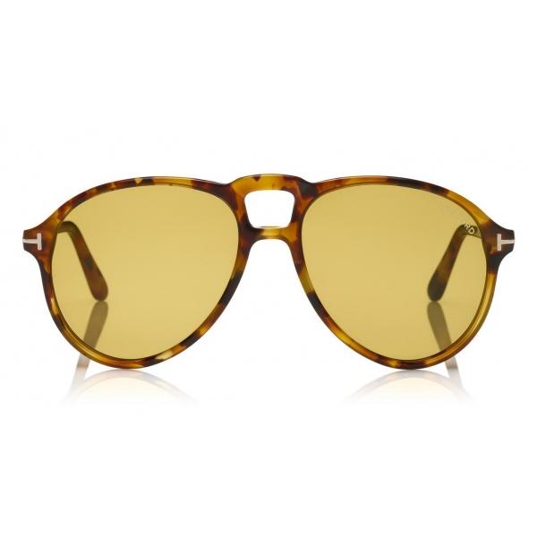 Tom Ford - Lennon Sunglasses - Occhiali da Sole Pilot in Acetato - FT0645 - Oliva - Tom Ford Eyewear