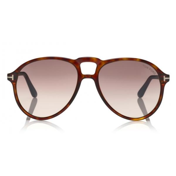 Tom Ford - Lennon Sunglasses - Occhiali da Sole Pilot in Acetato - FT0645 - Havana - Tom Ford Eyewear