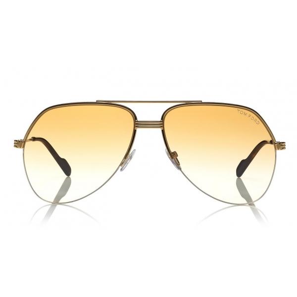 Tom Ford - Wilder Sunglasses - Occhiali da Sole Pilot in Acetato - FT0644 - Rosa - Tom Ford Eyewear