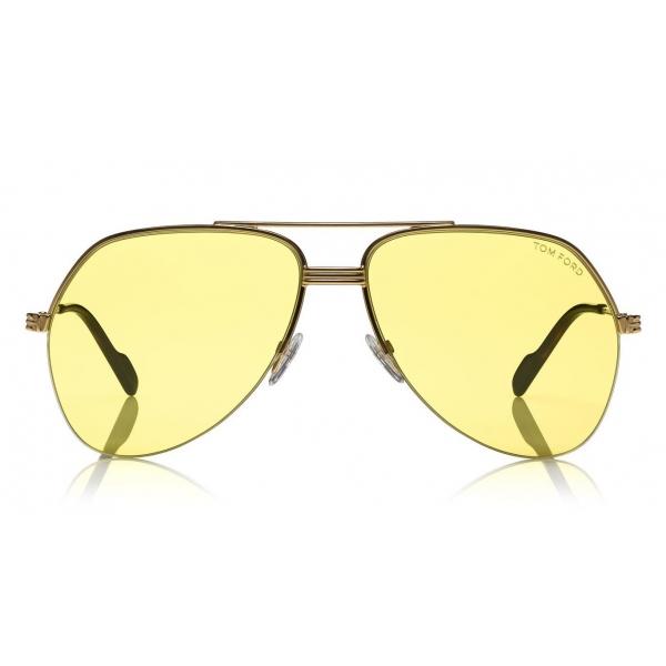 Tom Ford - Wilder Sunglasses - Occhiali da Sole Pilot in Acetato - FT0644 - Giallo - Tom Ford Eyewear
