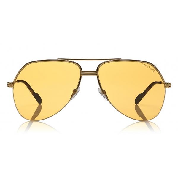 Tom Ford - Wilder Sunglasses - Occhiali da Sole Pilot in Acetato - FT0644 - Arancione - Tom Ford Eyewear