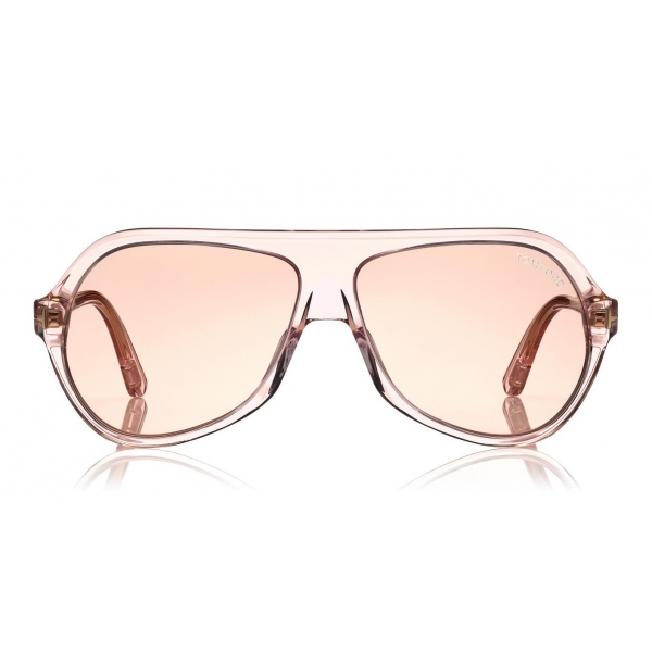 Tom Ford - Thomas Sunglasses - Occhiali da Sole Pilot in Acetato - FT0732 - Rosa - Tom Ford Eyewear