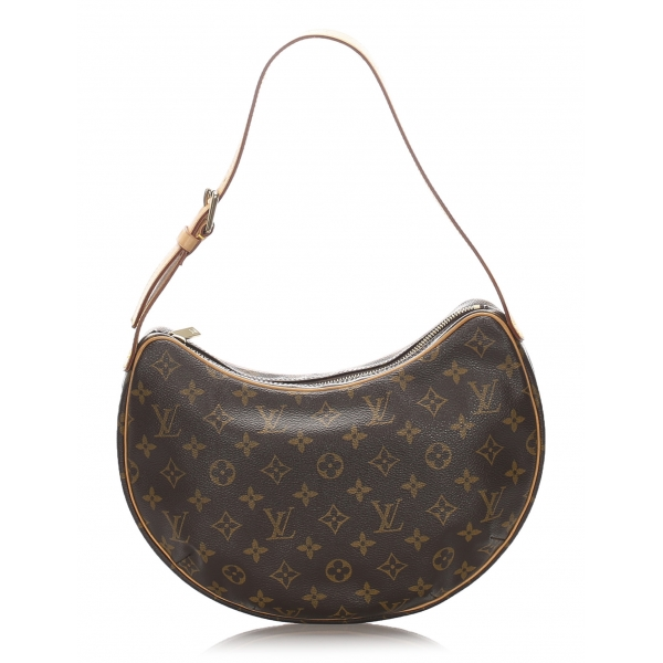 Louis Vuitton Vintage - Monogram Croissant MM Bag - Marrone - Borsa in Pelle e Tela Monogramma - Alta Qualità Luxury