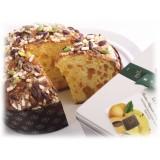 Vincente Delicacies - Panettone al Pistacchio di Sicilia, Pesca e Cioccolato - Printemps - Artigianale Cofanetto Metallico